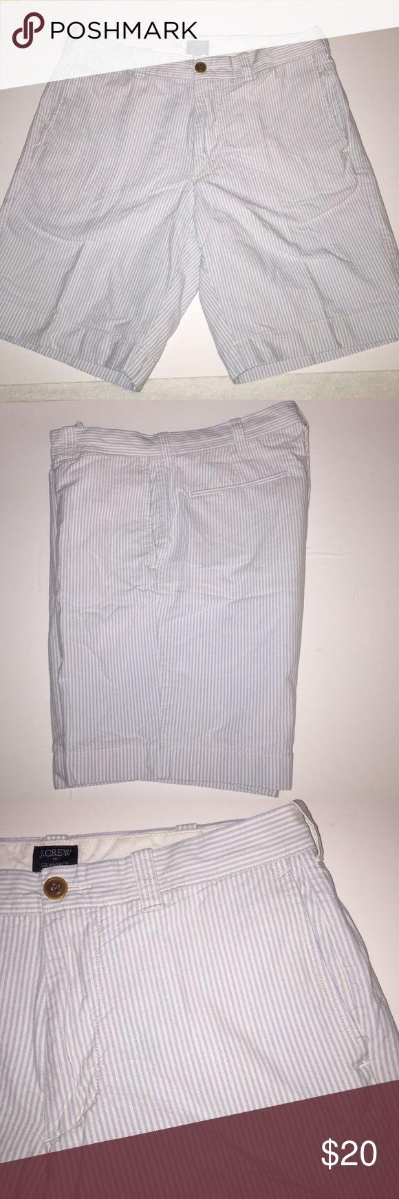 J. Crew MENS shorts J. Crew MENS shorts. Size 32  light blue and white stripe. J. Crew Shorts