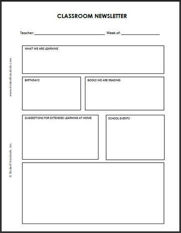 The 25+ best Newsletter template free ideas on Pinterest Parent - preschool calendar template