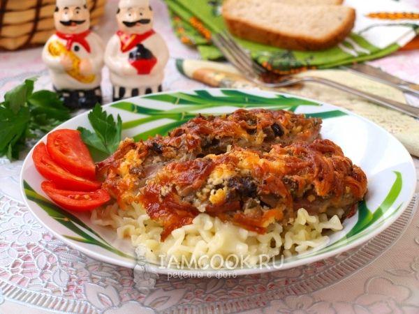 Рецепт мяса по-французски с грибами