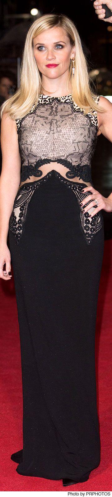 Reese Witherspoon Wearing Stella McCartney dress and Jessica McCormack earrings -  2014 BFI London Film Festival - Wild Gala Screening
