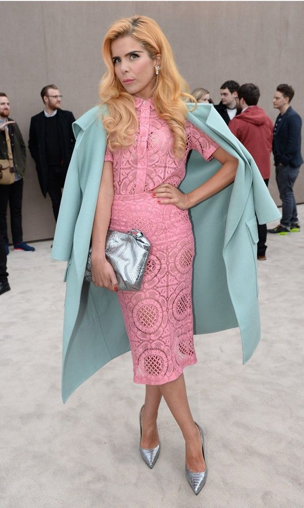 Paloma Faith At The Burberry Prorsum Show For London Collections: Men AW14