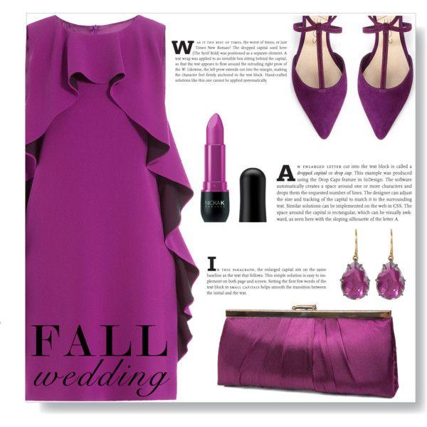 A fashion look from September 2016 by ajspragu02 featuring Boutique Moschino, Gunne Sax By Jessica McClintock, Larkspur & Hawk, Nicka K and fallwedding