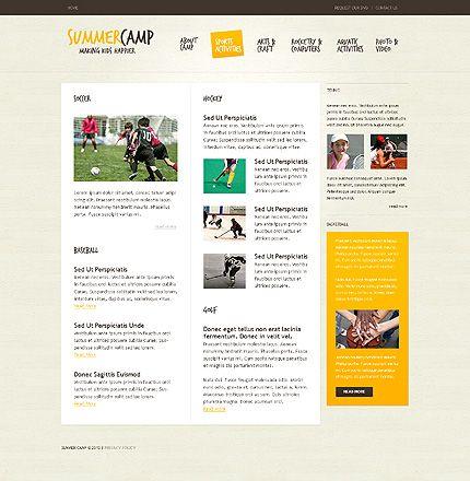 Summer Camp Website Templates by Hugo