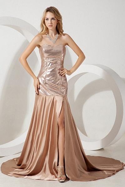 Satin Luxus Liebsten Formale Kleider ba1480 - http://www.brautmode-abendkleid.de/satin-luxus-liebsten-formale-kleider-ba1480.html - Ausschnitt: Sweetheart. Stoff: Satin. Ärmel: Ärmellos. Farbe: Gold. Silhouette: A-Line. - 209.59