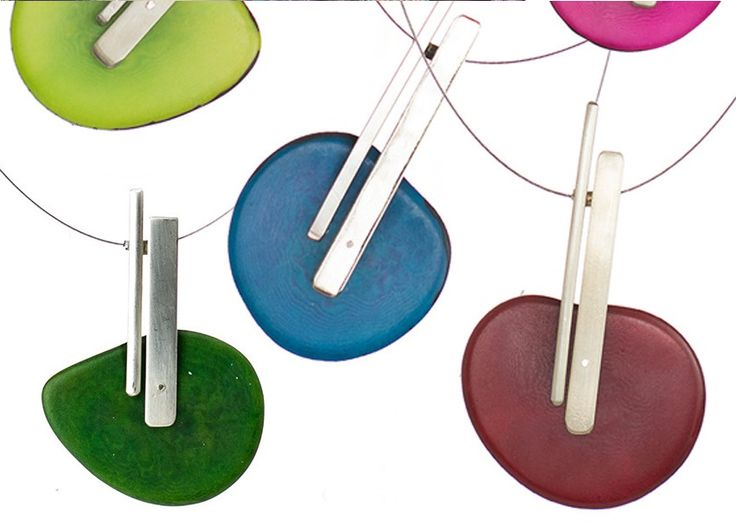 Jewellery by Marcia Helman, made from the tagua nut. This is how you create art from a dried palm tree seed!