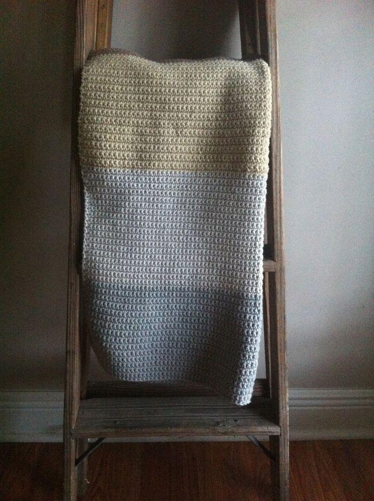 Shirley & Eadie: Baby Color Blocked Blanket: Easy Crochet Pattern For Beginners