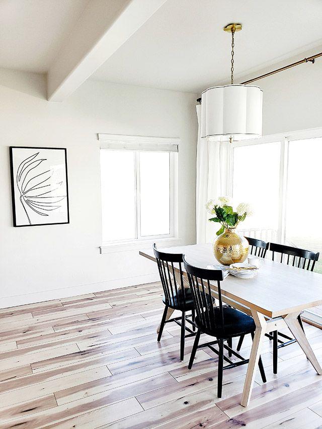 Whitelandecor Whitelanedecor Wood Table With Black Spindle Chairs