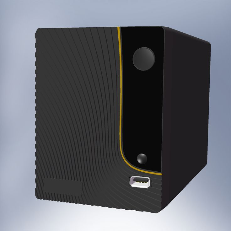 ZyXEL NSA 320 CAD model. Modeling in solidworks 2010