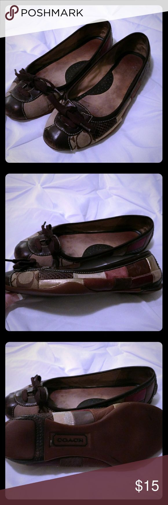 COACH Flats! Loved Coach flats. Comfortable. Some wear as is shown in pictures. Still lots of life left. Coach Shoes Flats & Loafers