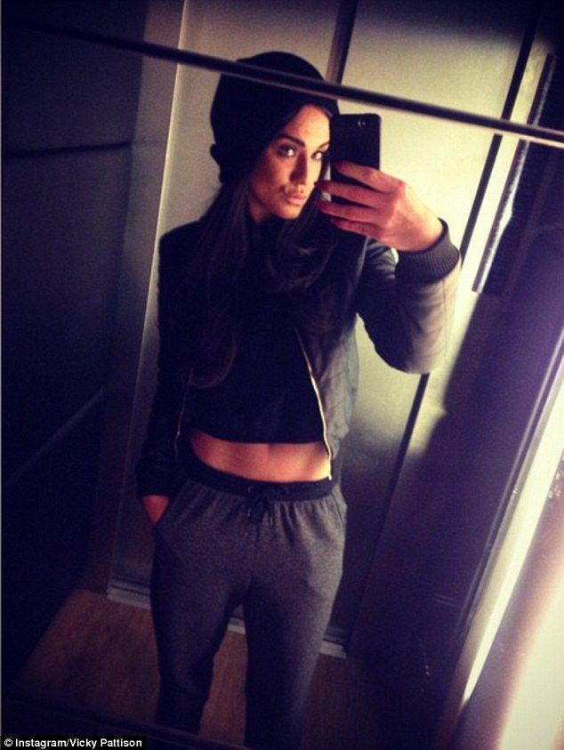 In good shape: The star also showed off her abs in another snap which she captioned saying...