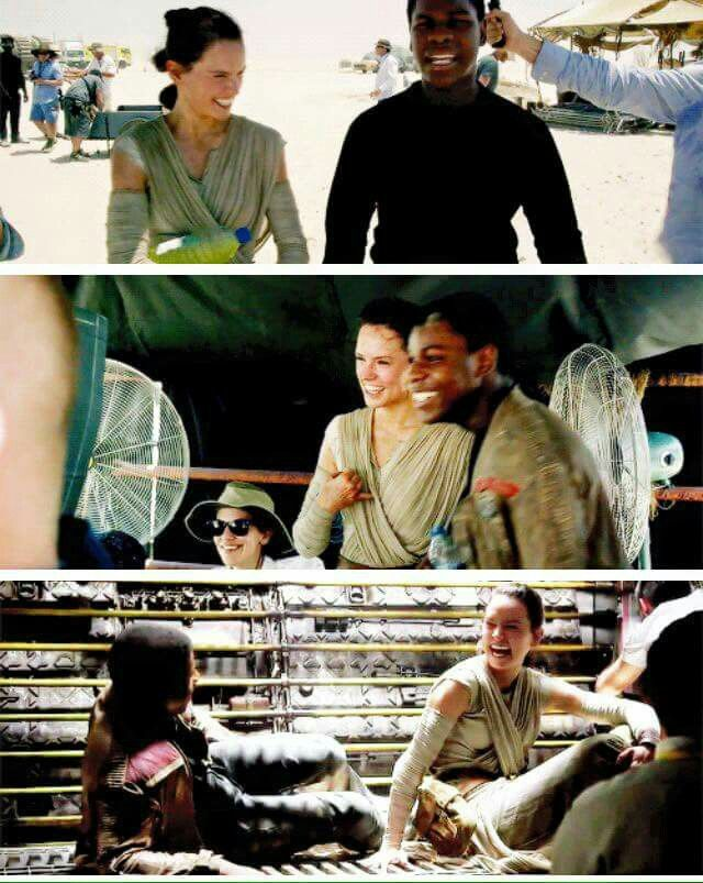 Star Wars 7 The Force Awakens - Bloopers - Finn and Rey scenes