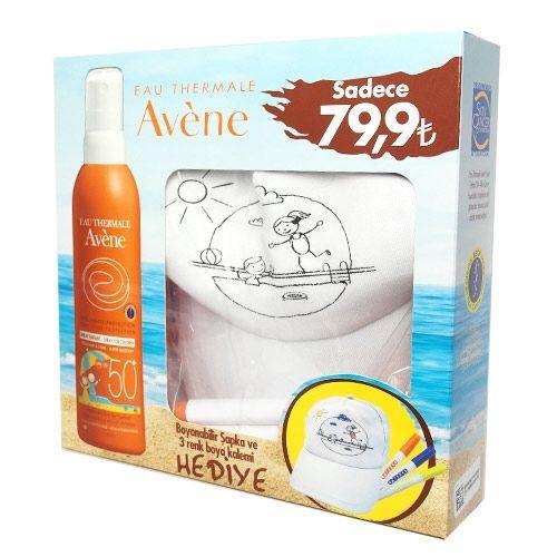 Avene Spray Enfant Spf50 200ml - Boyanabilir Şapka ve 3 Renk Boya Kalemi HEDİYE | 59,93 TL | Dermoeczanem.com