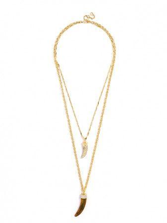 Love the length of the cornicello necklace  Pavé Cornicello Pendant