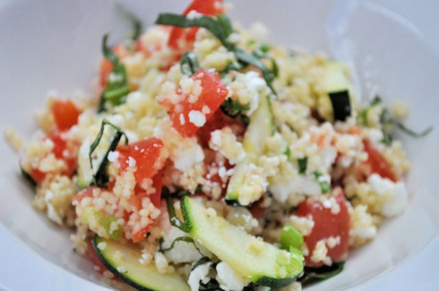 Clean eating BBQ ideas- Sides- Greek Couscous Salad