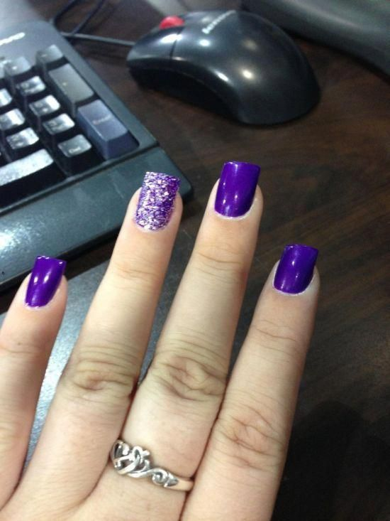 60 trendige Ideen für lila Nail Art Designs, die Sie ausprobieren müssen – Fashonails #toenails