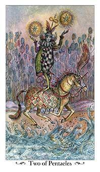 Two of Coins Tarot Card - Paulina Tarot Deck