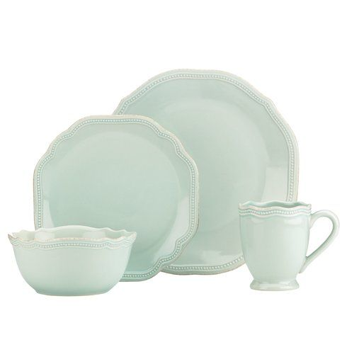 French Perle Bead 4 Piece Place Setting, Service for 1