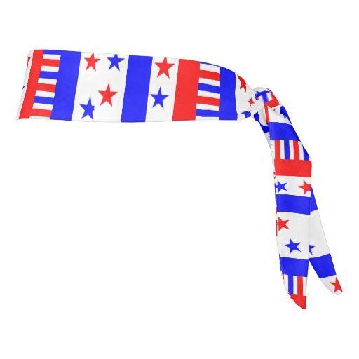 Stars and Stripes Pattern USA Flag Colors #patriotic #headband
