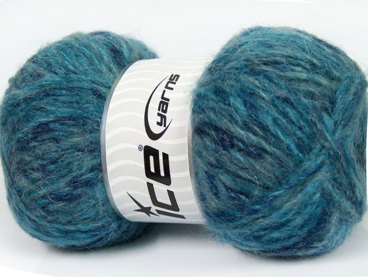 Composition 43% Acrylique 27% Polyamide 15% Mohair 15% Laine Turquoise Brand ICE Blue Shades fnt2-41168