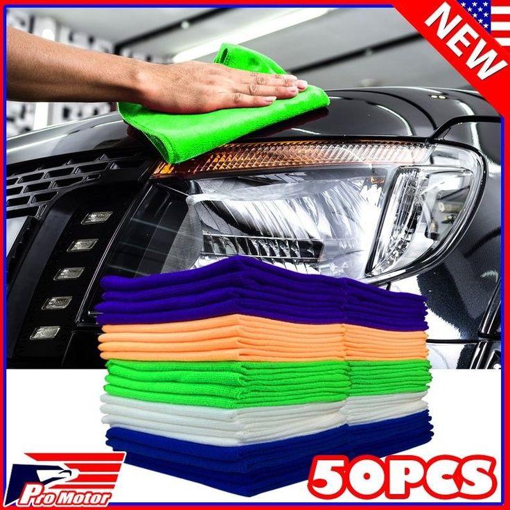 US-Deals Cars 50 Pack Microfiber Cleaning Cloth No-Scratch Rag Car Polishing Detailing Towel: $17.89 End Date: Saturday…%#USDeals%