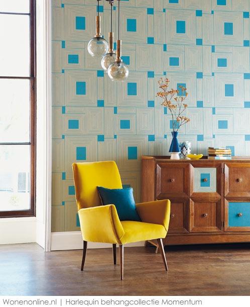 Momentum behang en stoffen  Strak en verfijnd ontmoet grafisch en architecturaal! Deze moderne en chique collectie textuurbehang biedt een prachtige combinatie van bonte stijlen, grafische prints en eigenzinnige ontwerpen