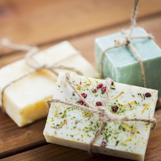 Learn how to make cold process soap with our in-depth soap making guide. Also includes a recipe for tie-dye soap in a fun infographic!