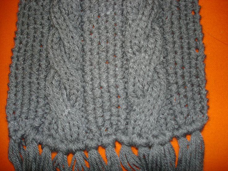 Mi Espacio Rocambolesco: Bufanda y gorro color gris para hombre