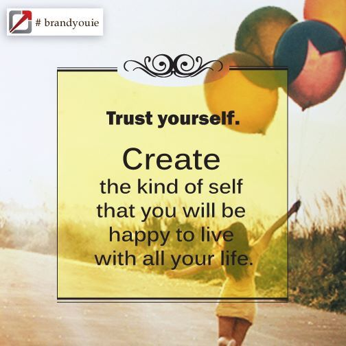 It is all about trusting yourself. #brandyouie #quotestoinspire #me #followme #world #PhotoOfTheDay #true #comment #creative
