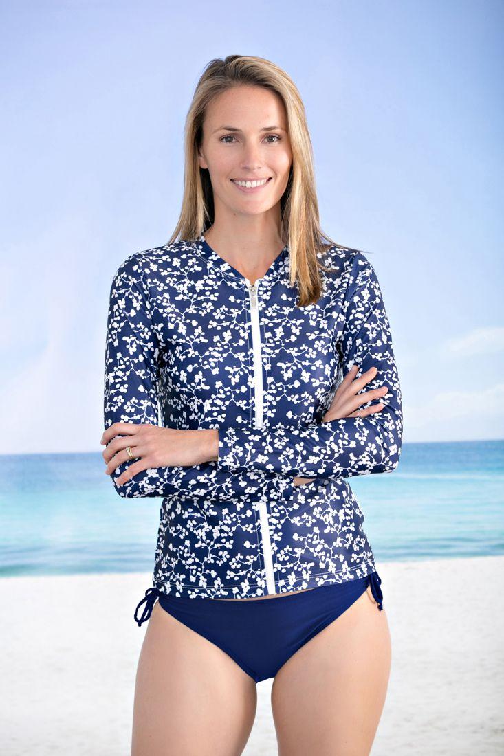 Kasana Sea - Ladies Blue Blossom Rash vest - Babes in the Shade, $69.00 (http://www.kasanasea.com.au/ladies-blue-blossom-rash-vest-babes-in-the-shade/)