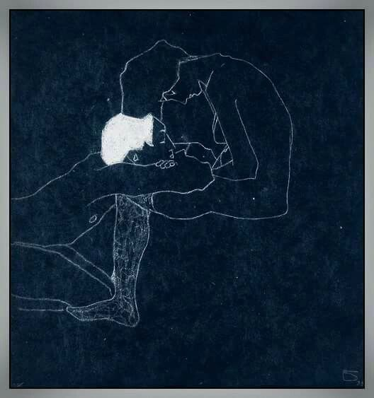 The lovers, Egon Schiele