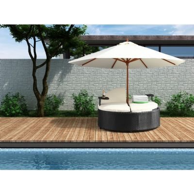 Best Outdoor Chaise Lounges Images On Pinterest Chaise - Double chaise lounge outdoor furniture