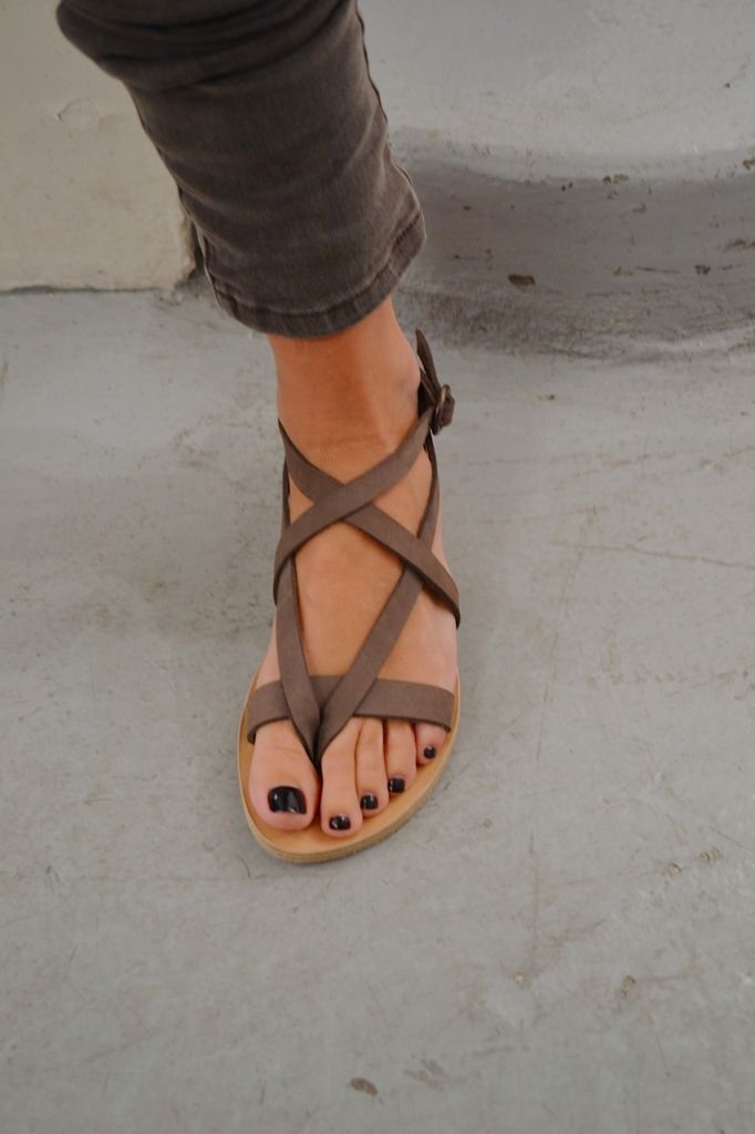 strappy sandals -- and nail polish, i see you.