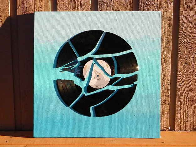 A beautiful piece of art made out of a no longer playable record.