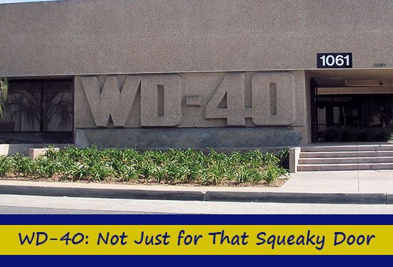 WD-40: Not Just for That Squeaky Door  http://www.homeandgardeningideas.com/wd-40-not-just-for-that-squeaky-door/