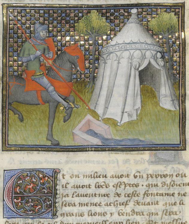 1000 images about illuminating on pinterest initials - Tristan le chevalier de la table ronde ...