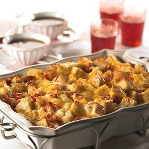 cheesy bacon & egg casserole