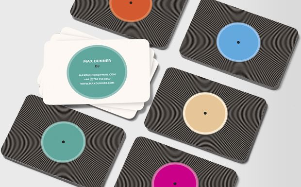 There's something inexplicably seductive about the sound of vinyl – and of the feel of an old (or new!) record in your hands #moocard #businesscard