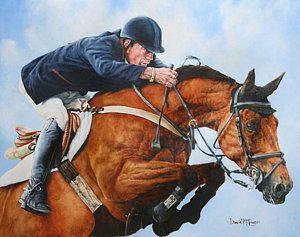 Equestrian Painting - Michael Whitaker On Portofino by David McEwen