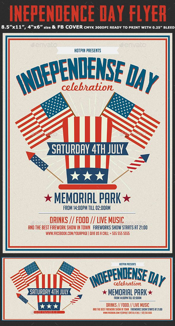 Independence/Memorial Day Flyer By Hotpin On Creative Market