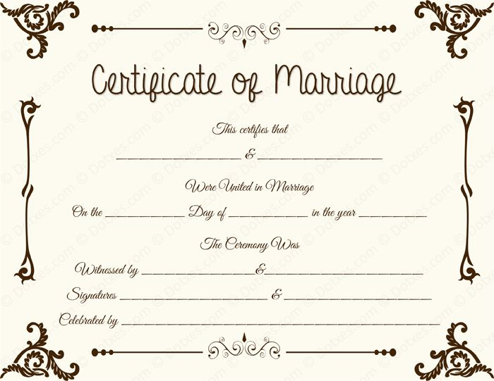 20 best Printable Marriage Certificates images on Pinterest - wedding contract templates
