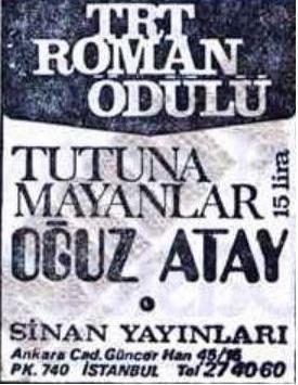 Tutunamayanlar - Oğuz Atay #oguzatay http://www.oguzatay.net/tutunamayanlar/