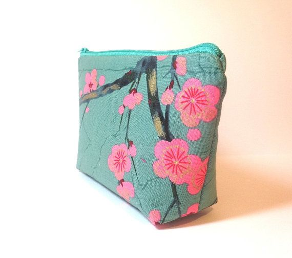 Zipper Pouch  Wallet  Cosmetic Pouch  Teal by handjstarcreations, $10.50