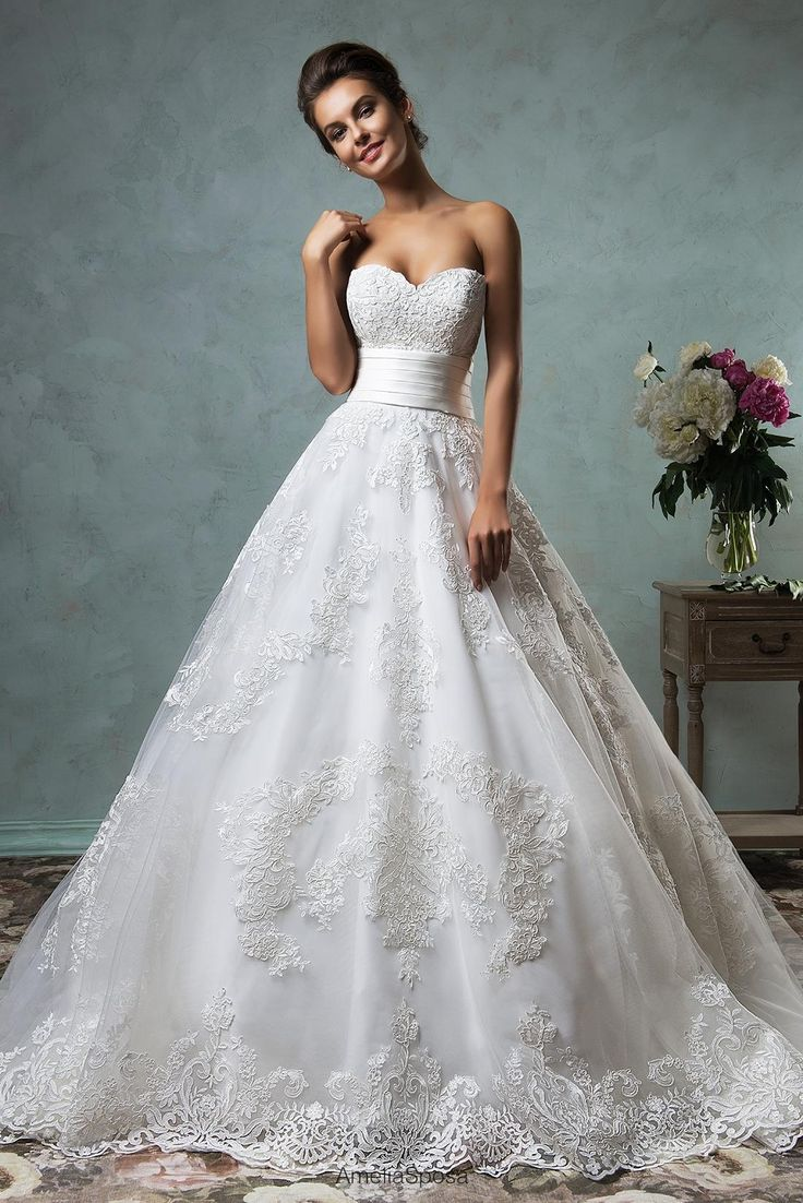 Boutique Dresses Amelia Sposa 2016 Strapless Wedding Dresses Appliqued Tulle Ball Gown Bridal Gowns With Chapel Train And Backless Pretty Dresses From Nicedressonline, $236.76| Dhgate.Com