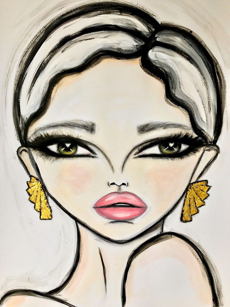 22ct Gold Leaf & Art Deco inspired earrings