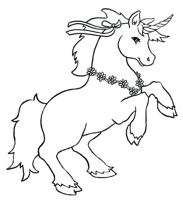 Halloween Unicorn Coloring Page