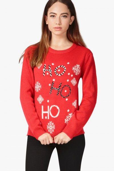 HO HO HO CHRISTMAS JUMPER