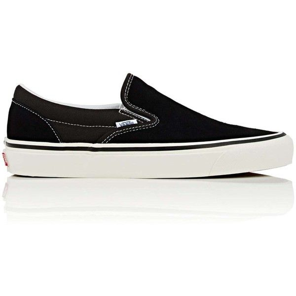 1e438a7d803 Vans Men s Classic Slip-On Suede   Canvas Sneakers (£59) ❤ liked on  Polyvore featuring men s fashion