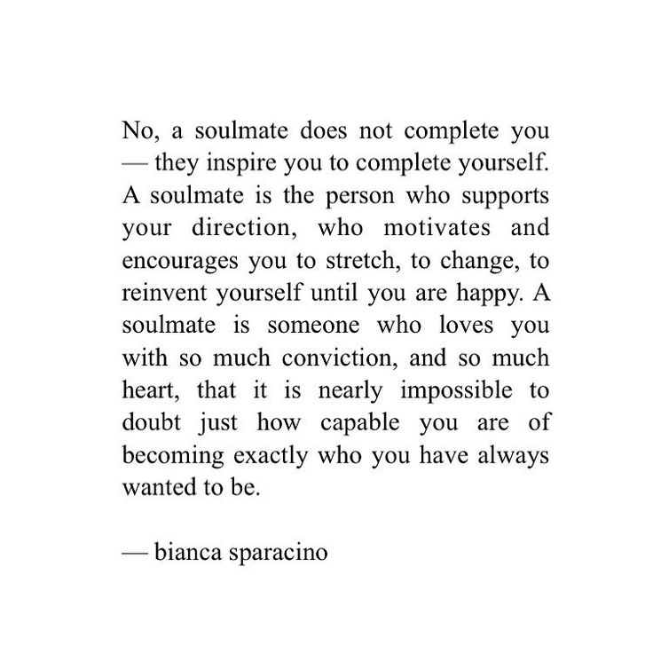 """Bianca Sparacino on Instagram """"A soulmate isn't someone"""