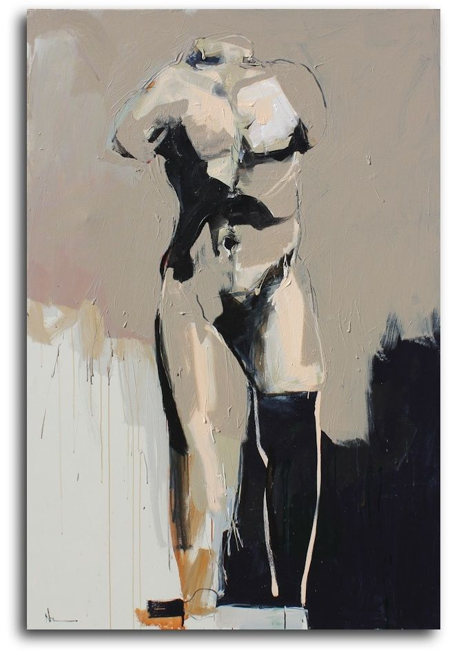 Walking Man Study | From a unique collection of paintings at https://www.1stdibs.com/art/paintings/