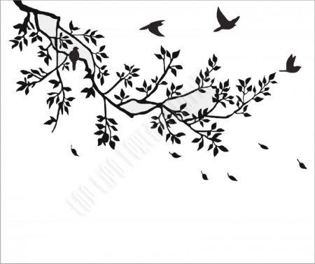 faág madarakkal falmatrica
